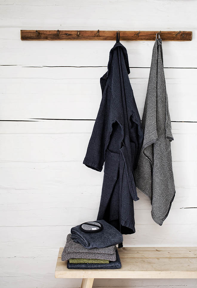 LapuanKankurit Terva bathrobe Kivi and Terva towels